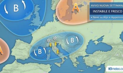 Previsioni meteo, da oggi freddo e persino neve in montagna