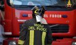 Rimessa in fiamme: due persone intossicate