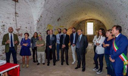 Il Ministro Bonisoli in visita al Forte di Pietole di Borgo Virglio