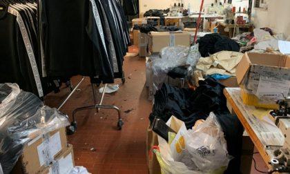 Lavoratori clandestini in laboratorio tessile cinese: due arresti
