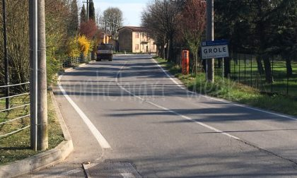 Strada pericolosa a Grole