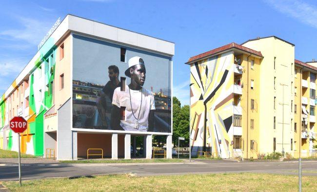 Alcune delle opere di street art a Lunetta