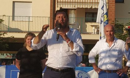 """Salvini in piazza: """"Porto Mantovano deve essere liberata"""" VIDEO FOTO"""