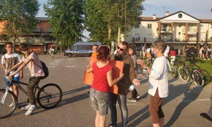 Salvini a Porto Mantovano: tanta polizia e striscioni strappati FOTO
