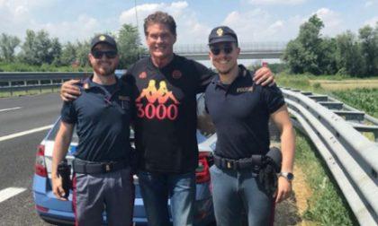 David Hasselhoff fermato in A21 dalla Polizia Stradale