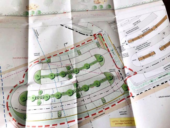 Il progetto di ampliamento del parcheggio di Campo Canoa