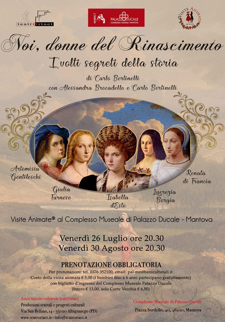 """""""Noi donne del Rinascimento"""": la visita animata che ti porta nel passato"""