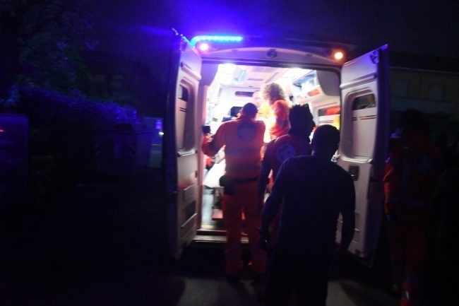 Grave incidente a Roverbella, 4 feriti SIRENE DI NOTTE