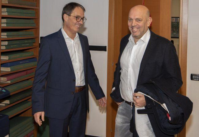 """L'assessore regionale Sertori visita Netweek: """"Olimpiadi opportunità per la montagna e non solo"""""""