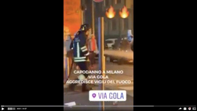 Pompieri aggrediti a Milano, in corso le perquisizioni per individuare i balordi VIDEO