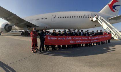 Coronavirus. Arrivata Malpensa delegazione cinese con medici e materiale sanitario FOTO