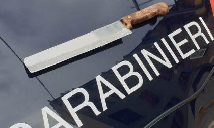 In giro armati: 2 uomini trovati con una mannaia da cucina in auto