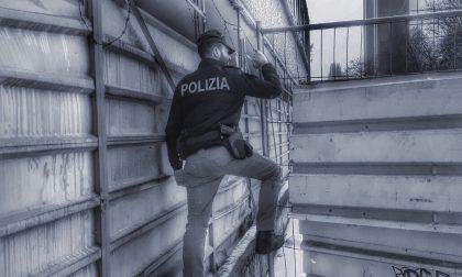 Salgono sul tetto di un capannone e lanciano pietre addosso a Guardie Giurate