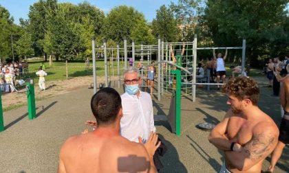 """Inaugurate le nuove aree fitness, sindaco Palazzi: """"All'inizio pensavo volessero menarmi…"""""""