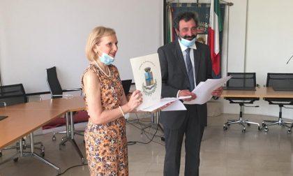 Consegnati stemma e gonfalonedel nuovo Comune di Borgo Virgilio FOTO