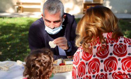 Riaperti i nidi comunali di Mantova e il sindaco Palazzi fa un'improvvisata FOTO