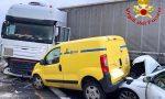 Grave incidente sull'autostrada A4: coinvolto un mezzo pesante FOTO
