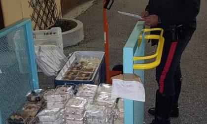 I Carabinieri intervengono per un incidente e scoprono alimenti trasportati in pessime condizioni FOTO