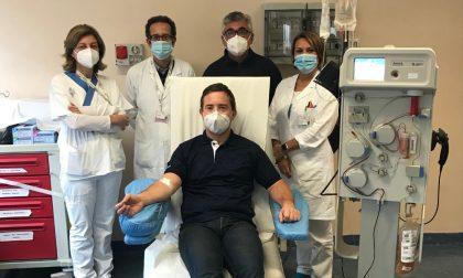 Al Carlo Poma, si è seduto il 200esimo donatore di plasma iperimmune