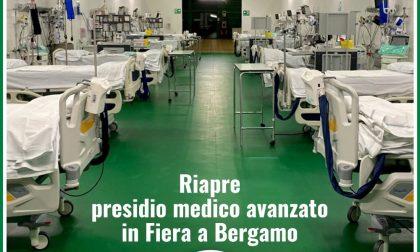 Riaperto l'ospedale in Fiera a Bergamo: personale sanitario di Mantova presente