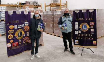 Solidarietà dai Lions Club Mantovani per le famiglie in difficoltà: donati 130mila euro di prodotti FOTO