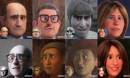 Personaggi famosi di Mantova: come sarebbero in versione cartoon