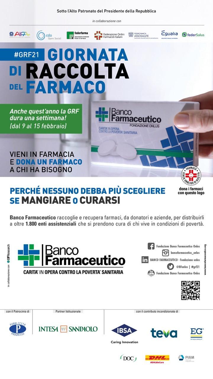 Giornata di Raccolta del Farmaco, l'invito a donare un farmaco a chi ha bisogno