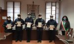 Attestati agli agenti della Polizia Locale per l'impegno nella lotta al Covid-19