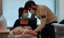 Dà alla luce una bimba poco prima di venire intubata in terapia intensiva
