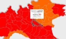 Incidenza contagi: Mantova ancora sopra la soglia critica ma la curva lombarda inizia a decrescere
