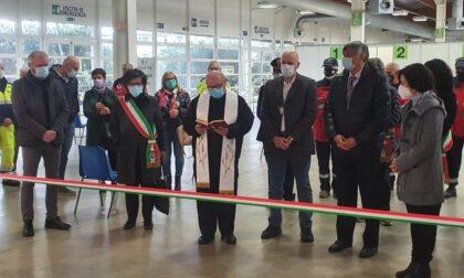Inaugurato il nuovo hub vaccinale alla Fiera Millenaria di Gonzaga
