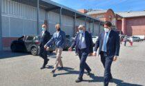 L'ex vice Ministro allo sviluppo economico Stefano Buffagni in visita a Mantova