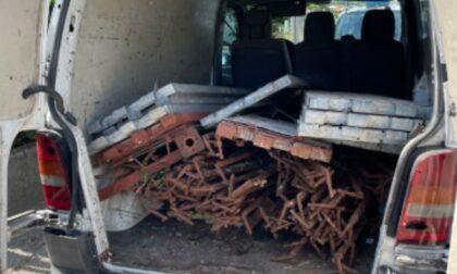Ruba materiale edile da un cantiere: denunciata donna 52enne
