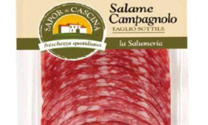 Sospetta salmonella: richiamato Salame Campagnolo prodotto nel Mantovano