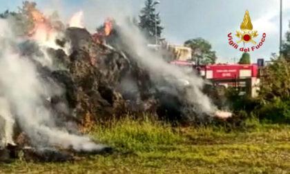 Incendio nella notte, 600 rotoballe in fiamme: si sospetta l'origine dolosa